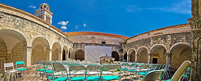 Franciscian Monastery In Hvar Panorama Poster by Brch Photography