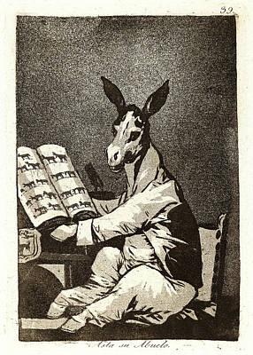 Francisco De Goya Spanish, 1746-1828. Asta Su Abuelo Poster by Litz Collection