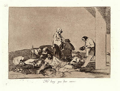 Francisco De Goya Spanish, 1746-1828. Its No Use Crying Poster