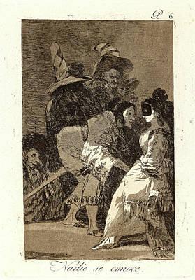 Francisco De Goya Spanish, 1746-1828. Nadie Se Conoce Poster