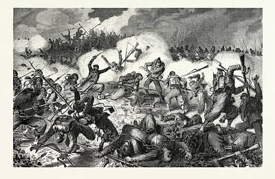 Franco-prussian War Fight The 10th Bavarian Battalion Poster