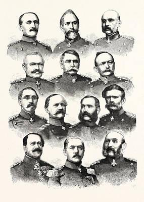 Franco-prussian War German Commanders Alvensleben Poster by French School
