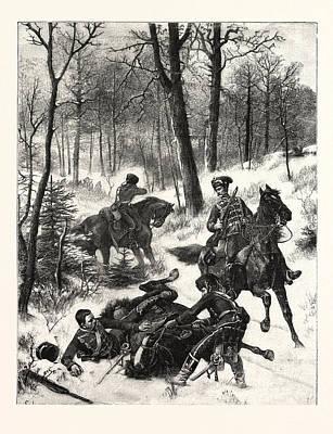 Franco-prussian War Raid On A Hussar Patrol Near Maimenon Poster by French School