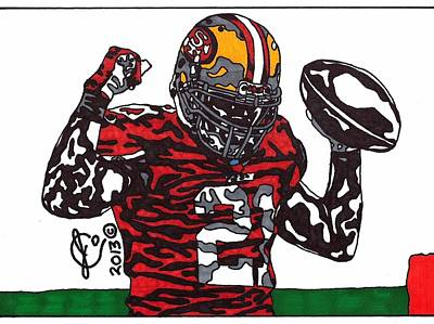 Frank Gore 1 Poster by Jeremiah Colley