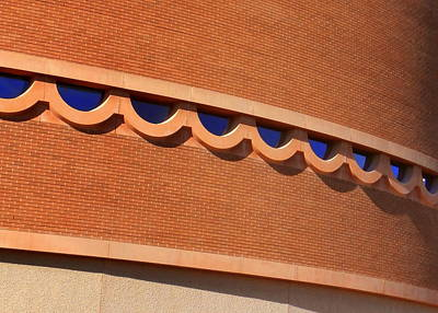 Frank Lloyd Wright Designed Auditorium Window Detail Poster