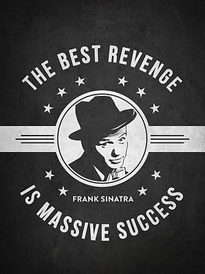 Frank Sinatra - Dark Poster by Aged Pixel
