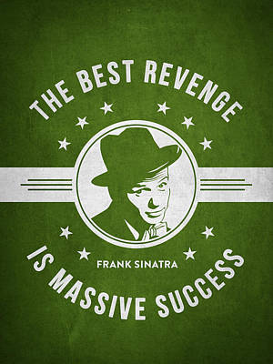 Frank Sinatra - Green Poster by Aged Pixel