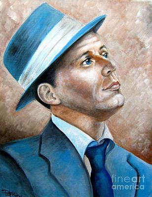 Frank Sinatra Ol Blue Eyes Poster by Patrice Torrillo