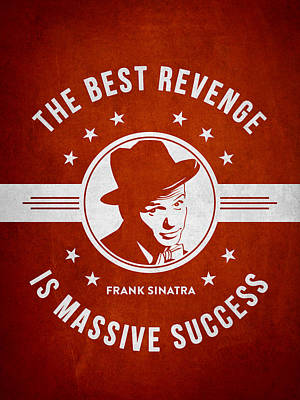 Frank Sinatra - Red Poster by Aged Pixel