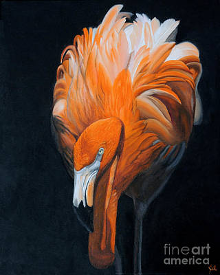 Frank The Flamingo Poster by Jane Axman