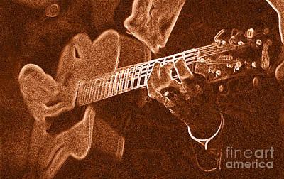 Frank Vignolas Guitar Poster by James L. Amos
