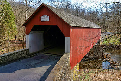 Frankenfield Covered Bridge Poster by Olivier Le Queinec