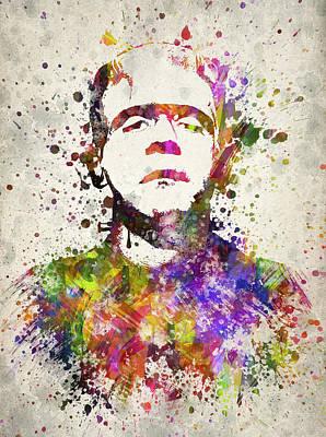 Frankenstein - Boris Karloff Poster by Aged Pixel