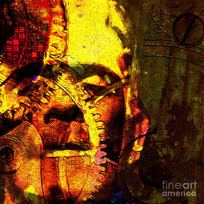 Frankenstein The Man Machine 20130718 Poster by Wingsdomain Art and Photography