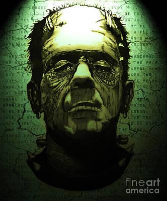 Frankenstein's Monster Dark Variant Poster by Ryan May