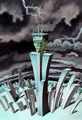 Frankentower Poster by Ben Sapia