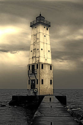 Frankfort North Breakwater Poster by Michelle Calkins