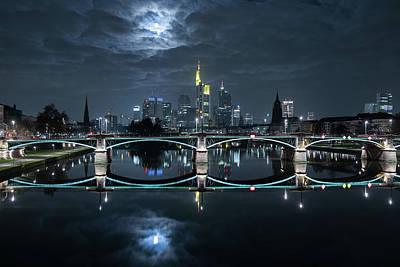 Frankfurt At Full Moon Poster