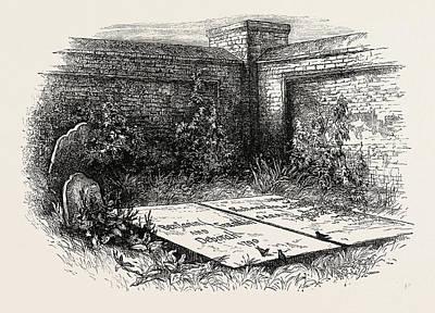 Franklins Grave At Philadelphia, United States Of America Poster