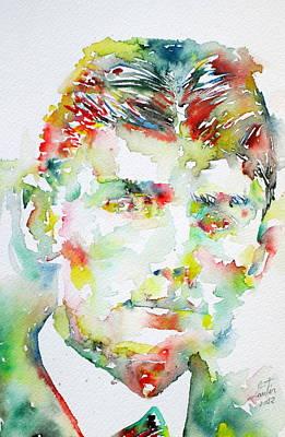 Franz Kafka Watercolor Portrait.2 Poster