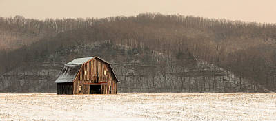 Poster featuring the photograph Frechman Barn - Winter by Wayne Meyer