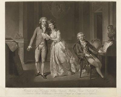 Frederika Louisa Wilhelmina, Princess Van Oranje-nassau Poster by John Raphael Smith And Tischbein And A.c. De Poggi