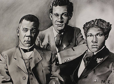 Free At Last... Booker T. Washington And Sons Poster by Marvin Ryan