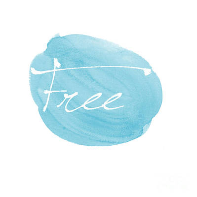 Free Blue Poster by Marion De Lauzun