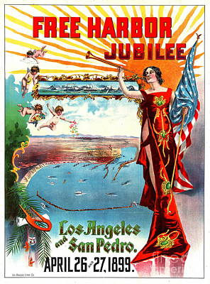 Free Harbor Jubilee 1899 Poster by Padre Art