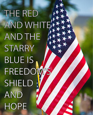 Freedom's Shield Poster by Tom Gari Gallery-Three-Photography