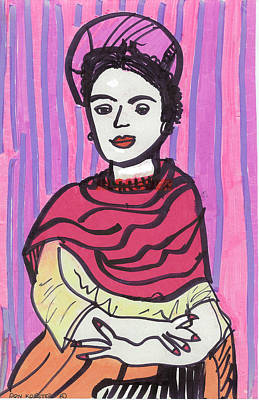 Frida Kahlo Poster by Don Koester