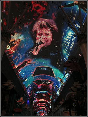 Fremont Street Experience Poster by Kay Novy