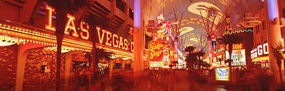 Fremont Street Experience Las Vegas Nv Poster by Panoramic Images