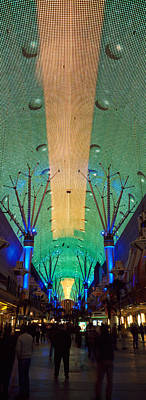 Fremont Street Las Vegas Nv Poster by Panoramic Images