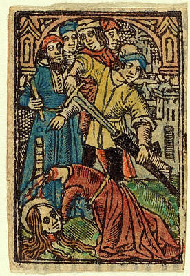 French 15th Century, Beheading Of Saint Catherine Poster by Litz Collection
