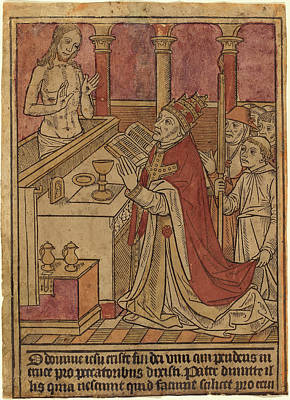 French 15th Century, The Mass Of Saint Gregory Recto Poster