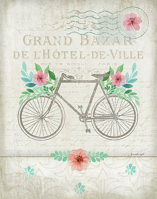 French Bike Poster by Jennifer Pugh