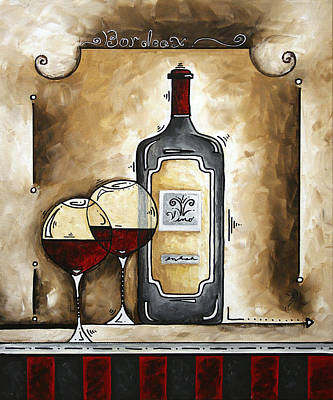 French Bordeaux Original Madart Painting Poster