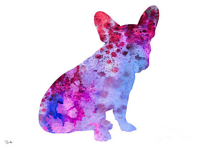 French Bulldog 3 Poster by Watercolor Girl