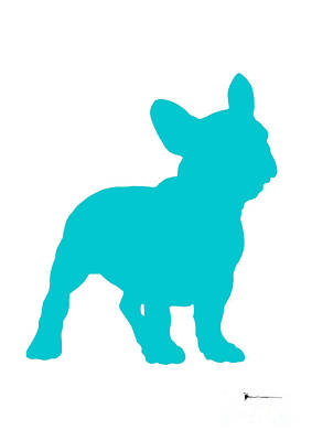French Bulldog Figurine Art Print Painting Poster