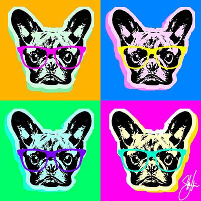 French Bulldog Pop Art Poster