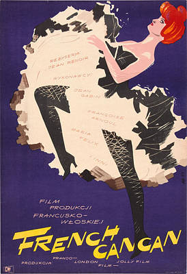 French Cancan, Polish Poster, 1954 Poster by Everett