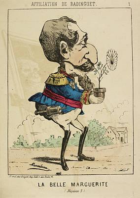 French Caricature - La Belle Marguerite Poster by British Library