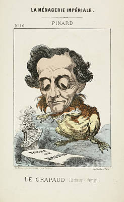 French Caricature - Le Crapaud Poster by British Library