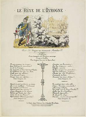 French Caricature - Le Reve De L'ivrogne Poster by British Library