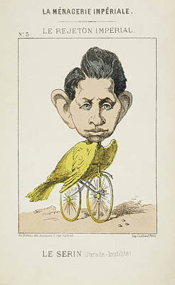 French Caricature - Le Serin Poster by British Library