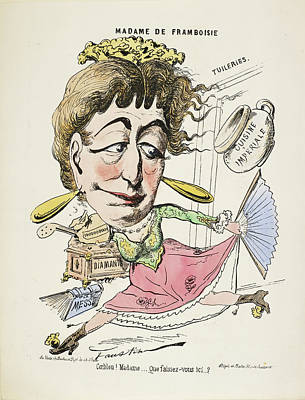 French Caricature - Madame De Framboisie Poster by British Library