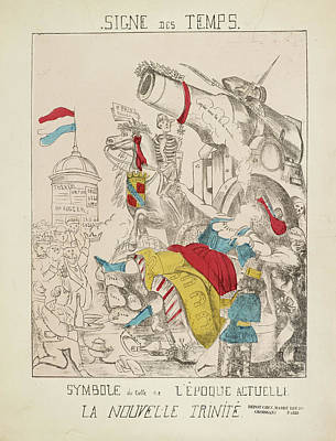 French Caricature - Signe Des Temps Poster by British Library