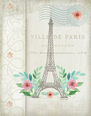 French Eiffel Poster