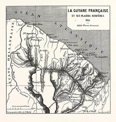 French Guiana, 1855 Poster by French School